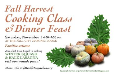 Fall harvest cooking class and dinner feast